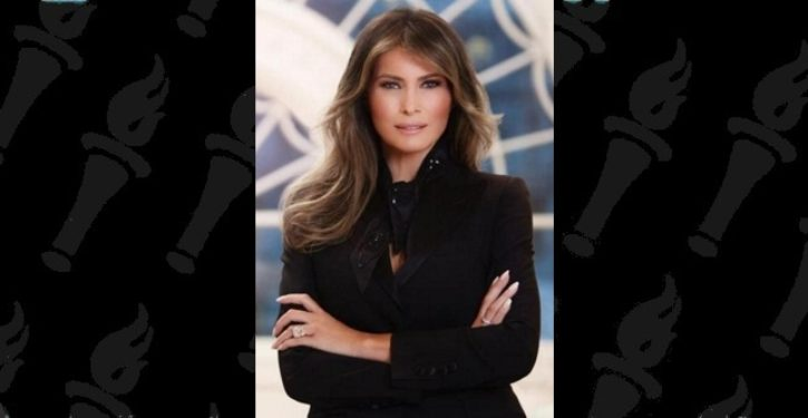Melania Trump's official portrait was released. And people are talking.