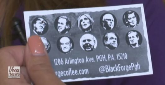 Coffee shop's reward card makes it look like Trump, conservatives have been shot in the head by LU Staff