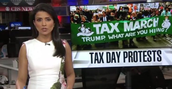 Networks parrot demands of liberal Tax Day protests; smeared Tea Party events on same day 8 years ago