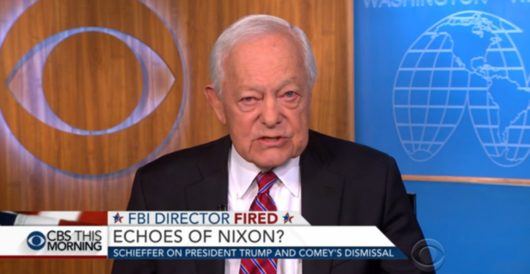 Gravitas: CBS's Bob Schieffer compares Comey firing to JFK assassination by Joe Newby