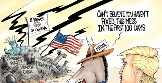 Cartoon of the Day: First 100 days by A. F. Branco