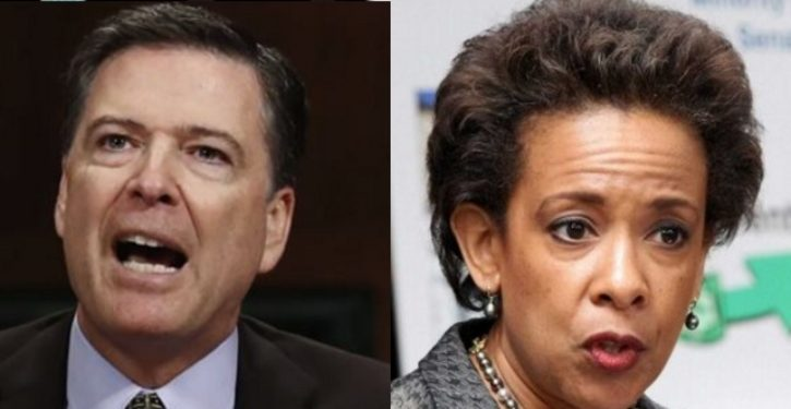 Report: Comey confronted Loretta Lynch directly, accused her of trying to protect Hillary