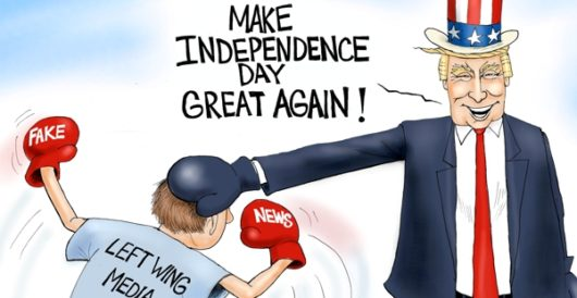 Cartoon of the Day: Happy Independence Day – big league! by A. F. Branco