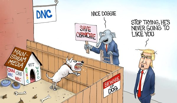 Cartoon of the Day: The Democrats' best friend by A. F. Branco