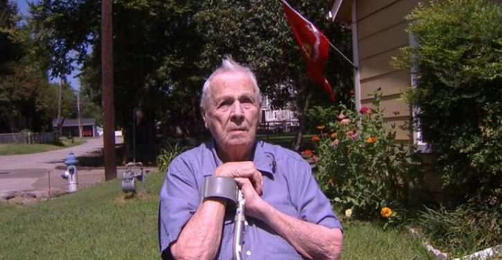 92-year-old blind war veteran attacked by flag vandals
