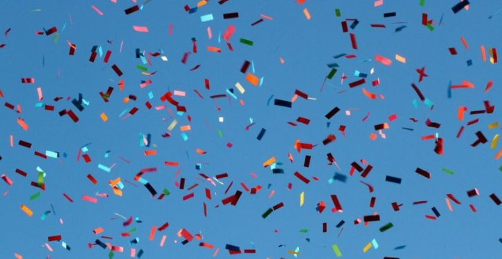 Confetti meant to celebrate Hillary Clinton's historic victory becomes art to inspire women
