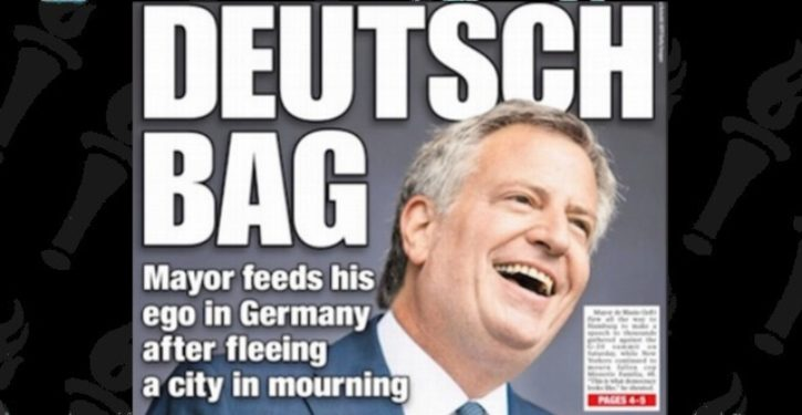 NY Post nails outrage over anti-cop Mayor Bill de Blasio skipping NYPD funeral to protest at G-20