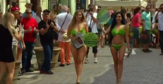 Lettuce entertain you: Scantily clad models descend on Cuba to promote PETA agenda by Howard Portnoy