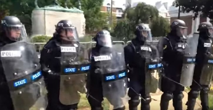 On that police stand-down in Charlottesville, there's money to follow