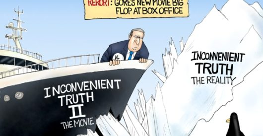 Cartoon of the Day: Gore v Truth by A. F. Branco
