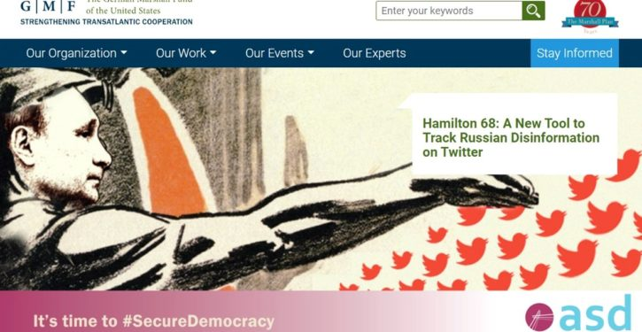 Orwellian: 'Russian propaganda' watchdog 'Hamilton 68' flogs MSM theme linking Google engineer to 'alt-right'