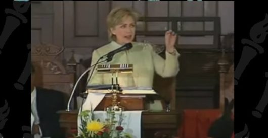 Born-again Hillary to give up the bully pulpit for the preacher's pulpit by LU Staff