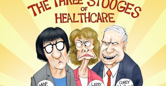 Cartoon of the Day: Larry, Moe, and Curly by A. F. Branco