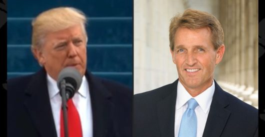 Jeff Flake's op-ed is basically the reason Trump is carrying the GOP standard today by J.E. Dyer