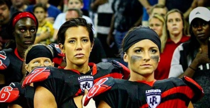 Lingerie football league: We stand for the anthem