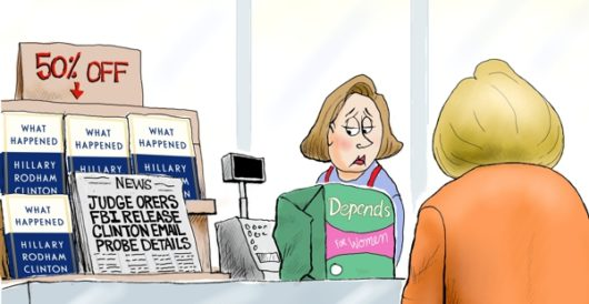 Cartoon of the Day: Cleanup in aisle 5 by A. F. Branco