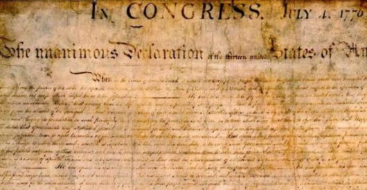 4th-graders forced to recite version of Declaration of Independence in which this word was changed by Howard Portnoy