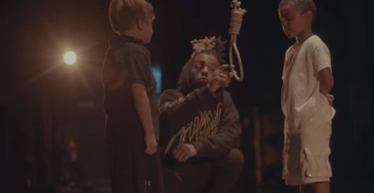 Rapper pretends to lynch a young white child in his latest video by LU Staff