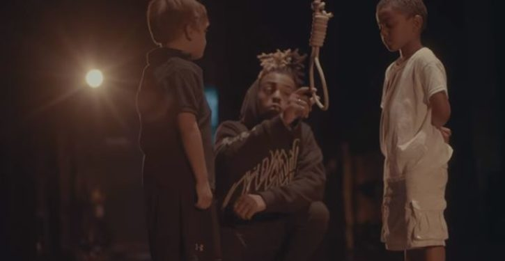 Rapper pretends to lynch a young white child in his latest video