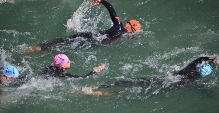 Why was a triathlon to raise money for children with cancer and other terminal diseases canceled?