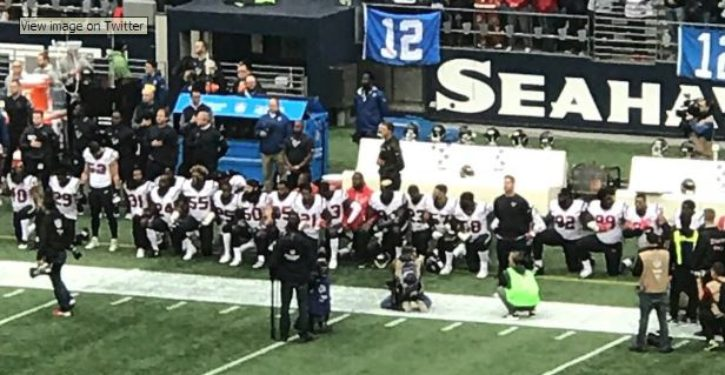 Majority of Houston Texan team refuses to stand for national anthem
