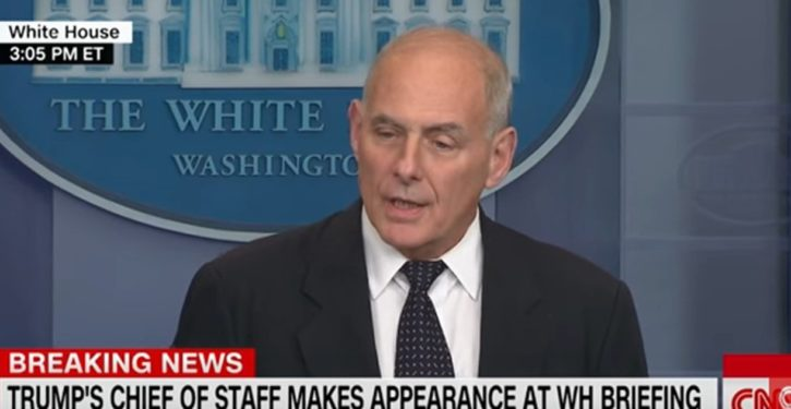 John Kelly spoke in the language of a military coup