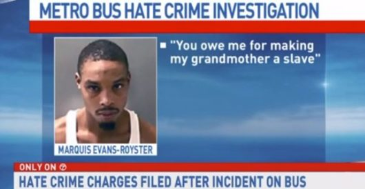 Black man declares 'all white people are evil,' spits in homeless man's face by LU Staff