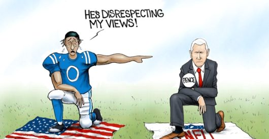 Cartoon of the Day: Pence offering by A. F. Branco