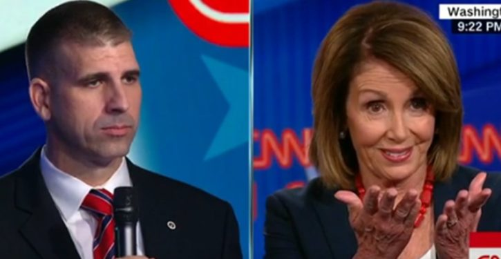 Retired Marine captain asks Pelosi question on gun control; her answer says it all
