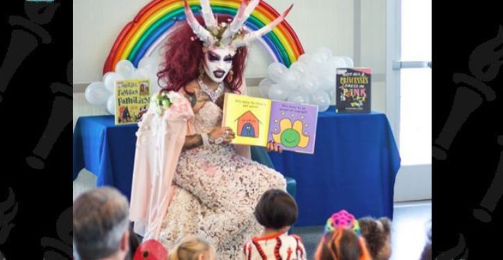 Satanic drag queen reads to young children at Michelle Obama Library in California