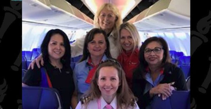 Southwest flight celebrates first 'unmanned' flight: crew entirely female