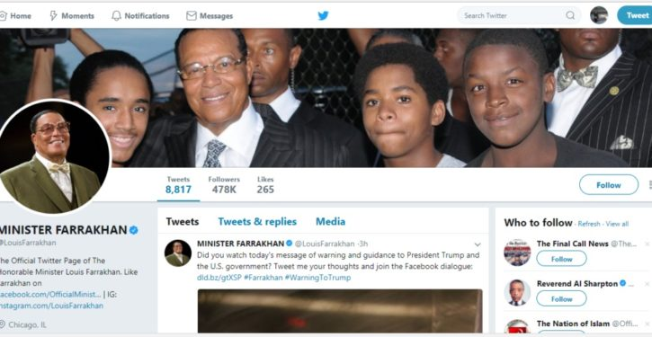Twitter declines to unverify noted anti-Semite Louis Farrakhan