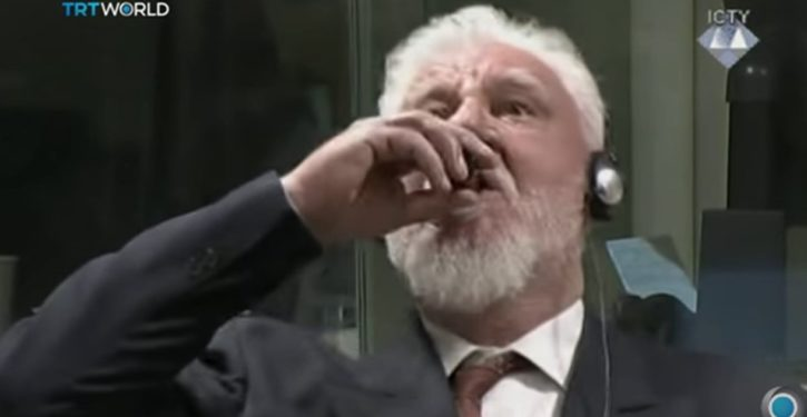 Tribunal drama: Croat war criminal apparently drinks poison, dies, seconds after Hague sentencing