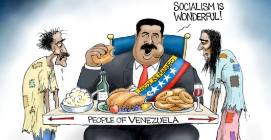 Cartoon bonus: Utopia in Venezuela by A. F. Branco