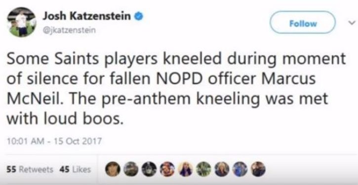 New Orleans Saints players in public feud with disabled vet over anthem protests