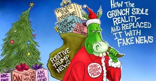Cartoon of the Day: How the Grinch stole reality by A. F. Branco