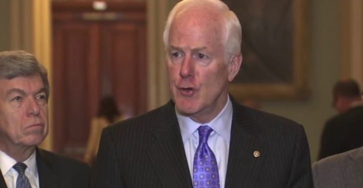 BREAKING: John Cornyn says Senate GOP has 50 votes to pass tax bill