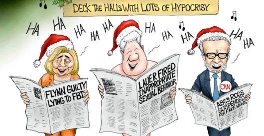 Cartoon of the Day: Holly jolly hypocrisy by A. F. Branco