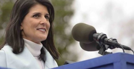 Nikki Haley is throwing a New Year's party; enemies of the U.S. are not invited by Rusty Weiss