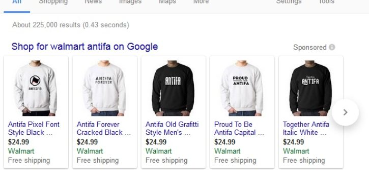 Looking for Antifa fan gear? Walmart's got it
