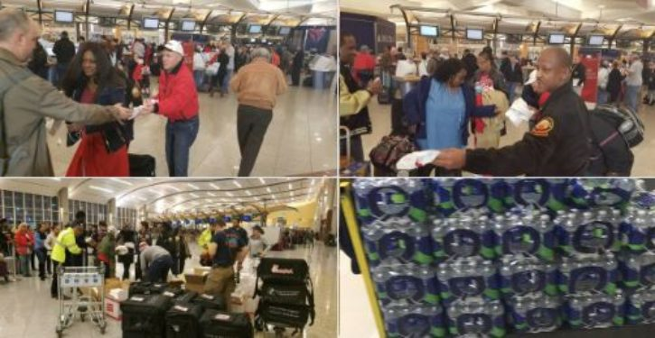 During massive airport power outage, Chick-fil-A hands out sandwiches to stranded travelers