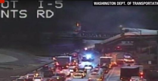 Amtrak train in Washington state derails on trestle, crashes down on highway by Howard Portnoy