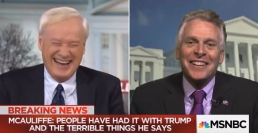 Gov. Terry McAuliffe threatens physical violence on president on live TV by Joe Newby