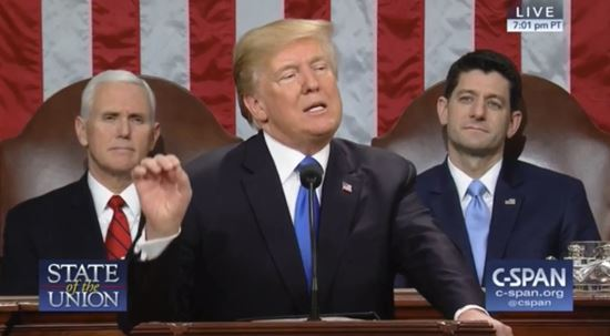 There IS a downside to Trump's not delivering SOTU from floor of House