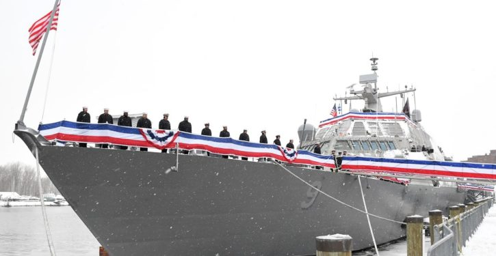 New Littoral Combat Ship USS Little Rock stuck in Montreal due to ice, possibly until spring