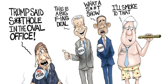 Cartoon of the Day: Media meltdown by A. F. Branco
