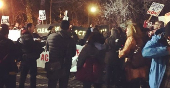 Angry DACA supporters protest all night outside Chuck Schumer's Brooklyn home