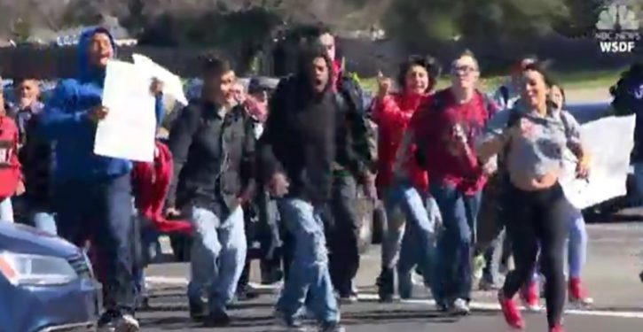 California: Students detained, arrested for violence at 'anti-gun violence' walkout
