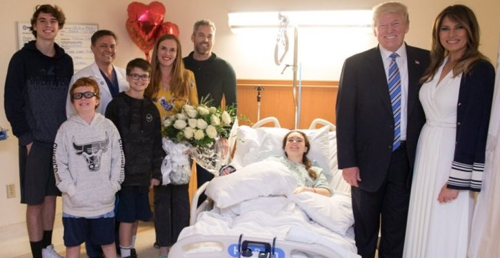 Deranged libs attack Trump, staff, family of FL survivor for smiling in FL hospital photo op