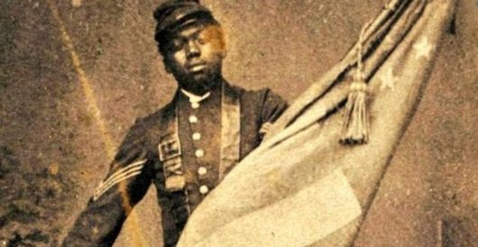Trump illustrates Black History: Soldier saving U.S. flag in battle by J.E. Dyer